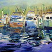 South Harbor Dawn Art Print