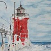 South Haven Lighthouse, South Have, Michigan  Art Print