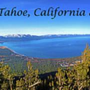 South Lake Tahoe, Ca And Nv Art Print