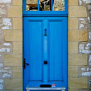 South Of France Rustic Blue Door  Art Print
