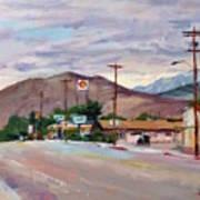 South On Route 395, Big Pine, California Art Print