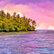 South Seas Sunset Art Print