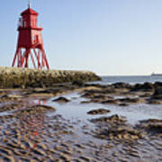 South Shields Groyne Art Print