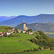South Tyrolean Panorama Above Bolzano. Art Print