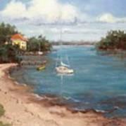 Southern Como Cottage Art Print