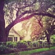 Southern Home #house  #coastalbeauty Art Print
