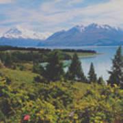 Southern New Zealand Lake Pukaki Art Print