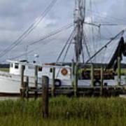 Southern Shrimpboat, Edisto Island, South Carolina  Art Print