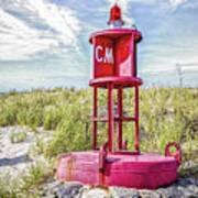 Southernmost Point Buoy- Cape May Nj Art Print
