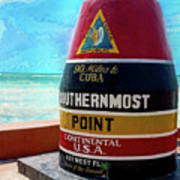 Southernmost Point Art Print