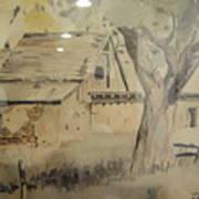 Southland Adobe Barn Art Print