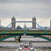 Southwark Bridge And The Tower Bridge Art Print