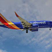 Southwest Airlines Boeing 737-76n Art Print