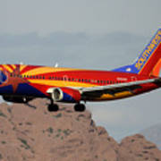 Southwest Boeing 737-3h4 N383sw Arizona Phoenix Sky Harbor December 20 2015  Art Print