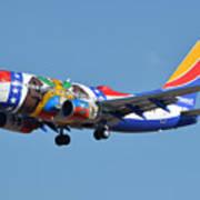 Southwest Boeing 737-7h4 N280wn Missouri One Phoenix Sky Harbor January 24 2016 Art Print