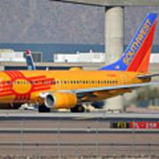 Southwest Boeing 737-7h4 N781wn New Mexico Phoenix Sky Harbor January 17 2016 Art Print