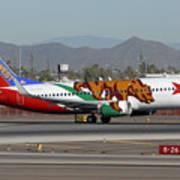 Southwest Boeing 737 California At Phoenix Sky Harbor November 10 2010 Art Print