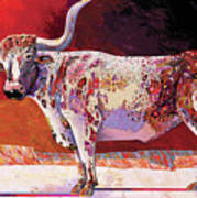 Southwest Longhorn Art Print
