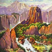 Southwest Mountain Floodwaters Art Print