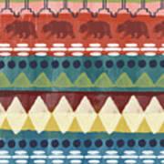 Southwest With Bears- Art By Linda Woods Art Print