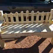 Southwestern Style Bench Art Print