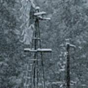 Southworth Windmill Snow Bound Art Print