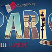 Souvernirs De Paris Art Print