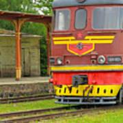 Soviet Era Train In Haapsalu Estonia Art Print