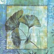 Spa Gingko Postcard 1 Art Print