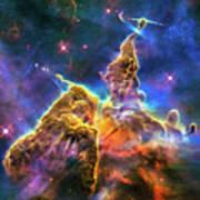 Space Image Mystic Mountain Carina Nebula Art Print