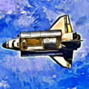 Space Shuttle In Space - Pa Art Print
