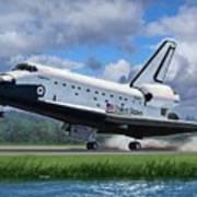 Space Shuttle Touchdown Art Print