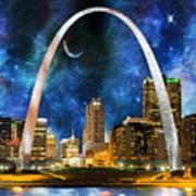 Spacey St. Louis Skyline Art Print