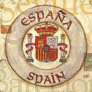 Spain Coat Of Arms Art Print by Debbie DeWitt