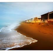 Spanish Beach Chalets Art Print