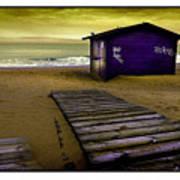 Spanish Beach Hut Art Print