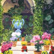 Spanish Courtyard Art Print