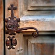 Spanish Mission Door Handle Art Print by Jill Battaglia