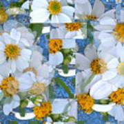 Spanish Nettles Collage Abstract Art Print