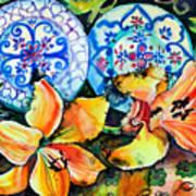 Spanish Plates Art Print