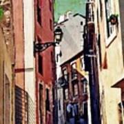 Spanish Town Art Print