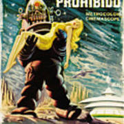Spanish Version Of Forbidden Planet In Cinemascope Retro Classic Movie Poster Art Print