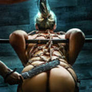 Spanking - Fine Art Of Bondage Art Print