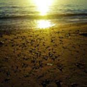 Sparkly Beach Sunset   Art Print