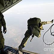 Special Operations Jumpers Exit A C-130 Art Print