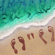 Speck Family Beach Feet Art Print