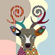 Spectrum Deer Art Print