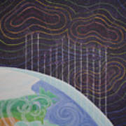 Spectrum Earth Spacescape Art Print