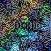 Spectrum Grid Art Print