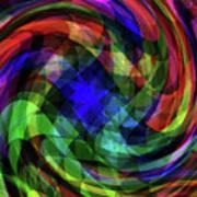 Spectrum Swirls Art Print